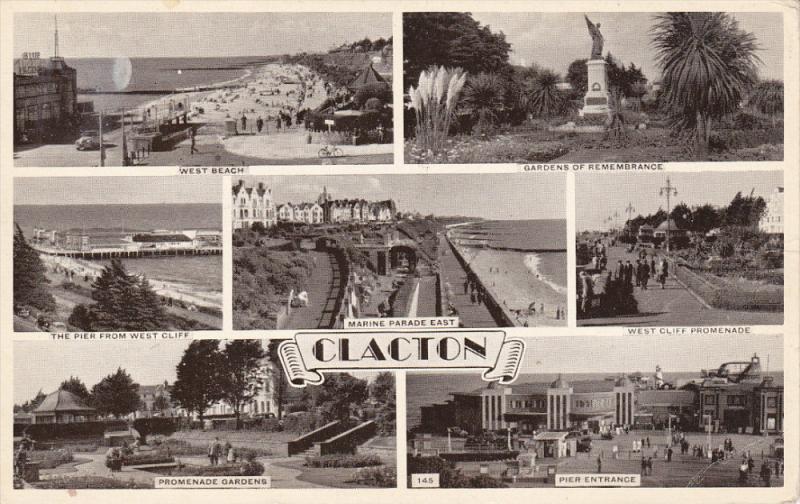 7-Views of CLACTON, Essex, England, United Kingdom, PU-1954