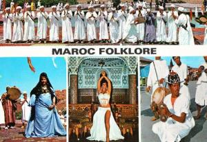Maroc Moroccon Fashion Folklore Dance Costume Fashion Postcard