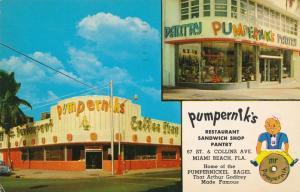 Pumperniks Restaurant and Sandwich Shop - Miami Beach FL, Florida - pm 1958