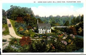 Ohio Youngstown Mill Creek Park Horse Shoe Curve Curteich