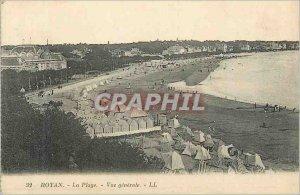 Old Postcard Royan La Plage Vue Generale