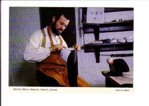 Interior, Leatherworker Making Soldiers' Equipment, Fort Henry, Kingston, Ont...