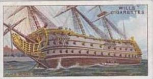 Wills Vintage Cigarette Card Celebrated Ships No 44 H M S Royal George  1911