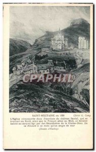 Postcard Old Saint Nectaire in 1830