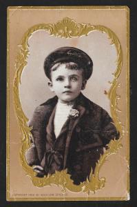 VICTORIAN TRADE CARD Woolson Spice Boy's Portrait