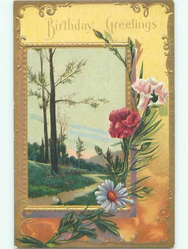Divided-Back BEAUTIFUL FLOWERS SCENE Great Postcard AA3432