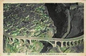 Algeria Constantine Vue generale Aerial view Bridge Postcard