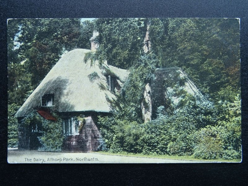 Northamptonshire THE DAIRY Althorp Park - Old Postcard by Dainty