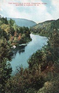 12741 Westfield River Scene, Chester, Massachusetts, Boston & Albany Railroad