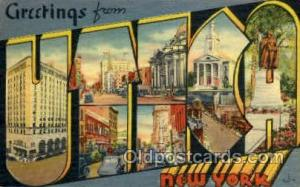 Utica, NY, New York, USA Large Letter USA Town, Towns, Postcard Postcards  Ut...