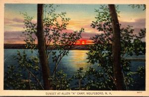 New Hampshire Wolfeboro Sunset At Allen A Camp