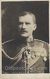 Sir Hector Macdonald Military Unused light corner wear, cracks in card from d...