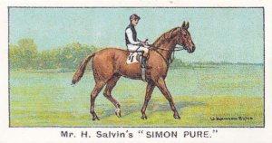 Simon Pure Winners On The Turf Newmarket Horse Racing Cigarette Card