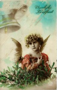 CPA Angel with a Pine Branch and Bells – Christmas ANGELS (777567)