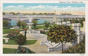 Iowa Waterloo Memorial Park 1944 Curteich