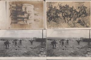 Puisieux Corner Battlefield Lanciers Portrait  4x French WW1 Military Postcard