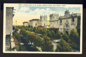 San Diego, California/CA Postcard, South Side Of El Prado, Balboa Park