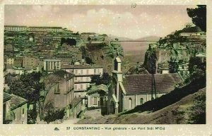 Algeria Constantine General view The Bridge Sidi M'Cid General view Postcard
