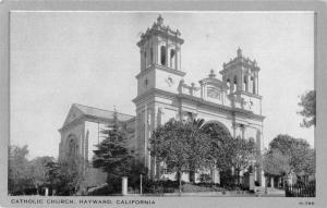 Hayward California Catholic Church Vintage Postcard JC932438