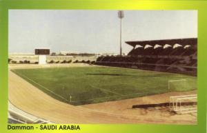 saudi arabia, DAMMAN, Football Ground (1998) Stadium Postcard