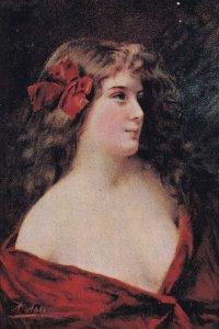 Artist ASTI ; Female Head Portrait , 00-10s #7 ; Canadian Souvenir Post Card B