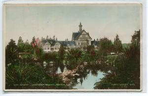 Bath House Sanatorium Grounds Rotorua New Zealand 1910c Real Photo postcard