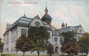 Exterior, Central School, Manistee, Michigan,  PU-1909