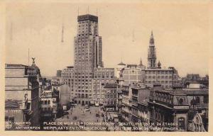 Belgium Anvers Place de Meir et Torengebouw 1935