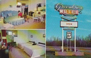 North Carolina Lumberton Greenbrier Motel 1960