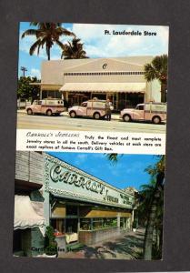 Fl Carroll's Jewelers Jewelry Store Ft Fort Lauderdale Florida Postcard