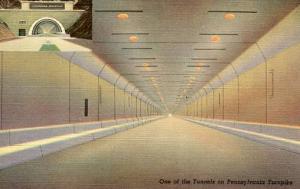 PA - Pennsylvania Turnpike,  Inside Allegheny Tunnel & Entrance to Tuscarora