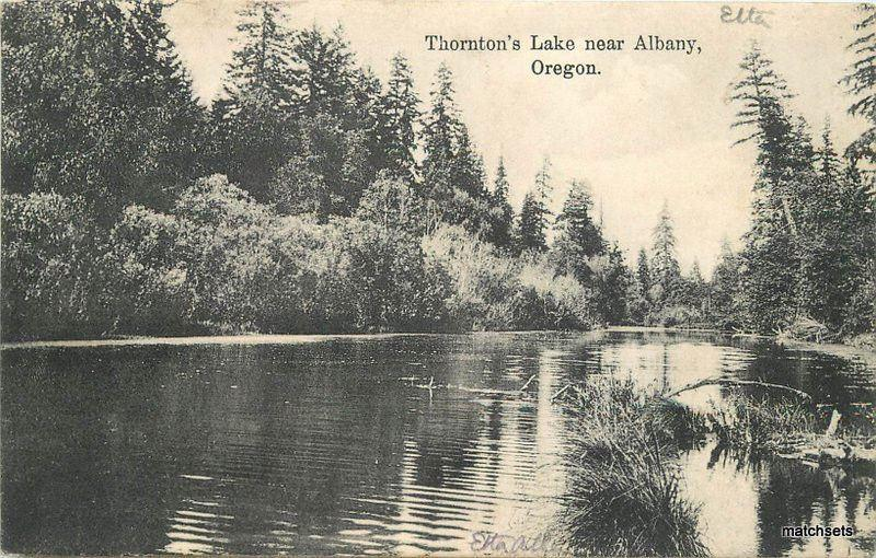 1909 Thornton's Lake Albany Oregon Portland postcard 8971