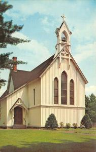 North Conway New Hampshire~Christ Church Episcopal~Bell Swings in Steeple~1960s