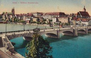 BASEL, Switzerland, 1900-1910s; Mittlere Rheinbrucke