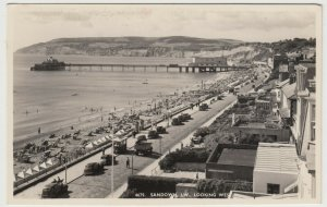 Isle Of Wight; Sandown, Looking West RP PPC By Nigh, Unposted, c 1950's