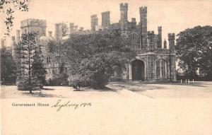 Sydney Australia Government House Antique Postcard J50242
