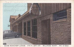 BILLINGS, Montana, 1930s; Dude Rancher Lodge, Stirrup Coffee Shop