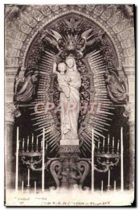 Old Postcard Lyon Basilica of Our Lady of Fourviere Virgin