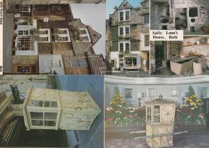 Sally Lunns House Sedan Chair 4x Bath Postcard s