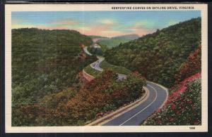 Serpentine Curve on Skyline Drive,VA