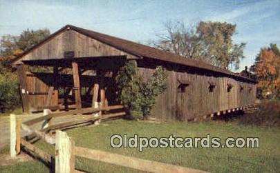 Covered Bridge, VT USA Covered Bridge Postcard Post Card Old Vintage Antique ...