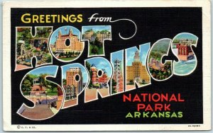 HOT SPRINGS National Park Arkansas Large Letter Postcard Curteich Linen 4A-H2080