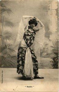 PC CPA ARABIAN TYPES AND SCENES, SASKIA, Vintage Postcard (b17440)
