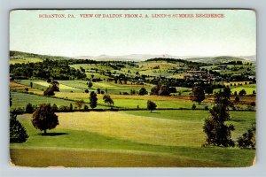 Scranton PA-Pennsylvania, View of Dalton from J.A. Linens Vintage c1910 Postcard