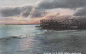 California Long Beach Sunset Scene