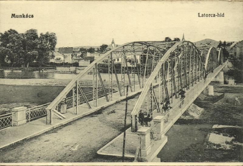 ukraine russia, MUKACHEVE MUNKÁCS MUKAČEVO Мукачеве, Latorica Bridge (1910s)