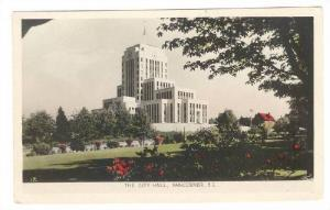 RP; Hand-colored, The City Hall, Vancouver, British Columbia, Canada, 10-20s