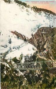 Suspension Bridge and Tunnel, Placer Canyon Alaska AK 1910