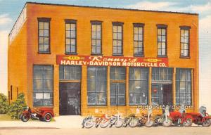 Linen Era (1915 - 1930) Kansas City MO USA Kennys Harley Davidson Motorcycle CO