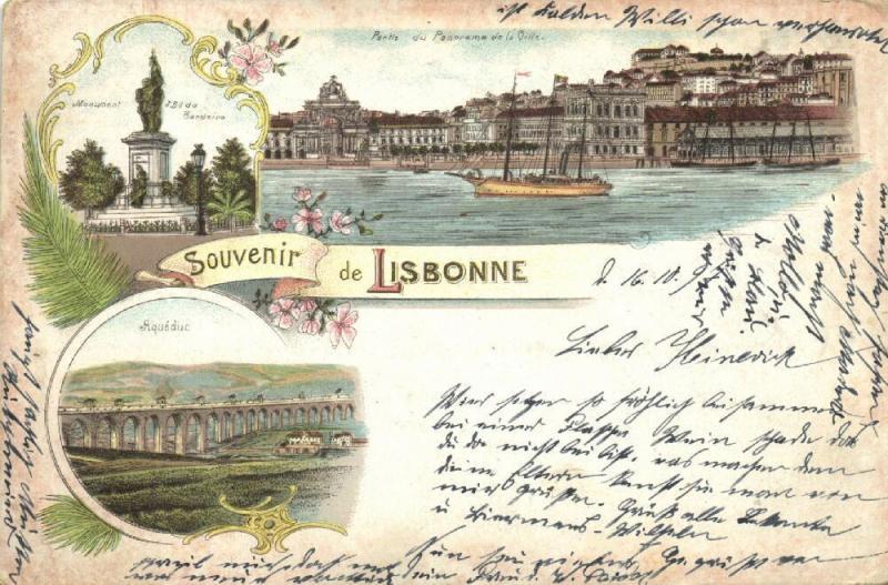 portugal, LISBOA LISBONNE LISBON, Multiview, Aquéduc, Panorama, Monument (1897)